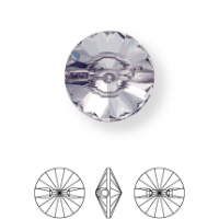 Rivoli Crystal Button conical 1 hole 8mm Crystal UF Transparent