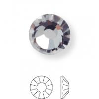 Rose Hotfix Rhinestone ss6 Black Diamond HF