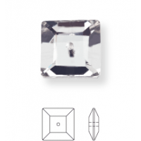 Square sew-on stone 1 hole 6mm Crystal F