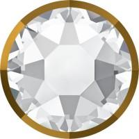 Xirius Rose Rimmed Hotfix Rhinestone ss34 Crystal & Dorado Z A HF