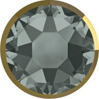 Xirius Rose Rimmed Hotfix Rhinestone ss34 Black Diamond & Dorado Z A HF
