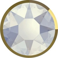 Xirius Rose Rimmed Hotfix Rhinestone ss16 White Opal & Dorado Z A HF