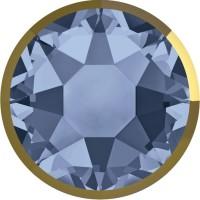 Xirius Rose Rimmed Hotfix Rhinestone ss34 Denim Blue & Dorado Z A HF
