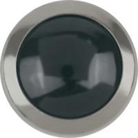 Framed Cabochon Hotfix Half-Perl ss34 Jet Hematite HF Silver Ring (SR)