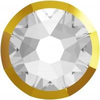 Xirius Rose Rimmed Rhinestone ss34 Crystal & Dorado Z F