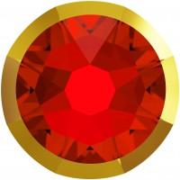 Xirius Rose Rimmed Rhinestone ss34 Light Siam & Dorado Z F