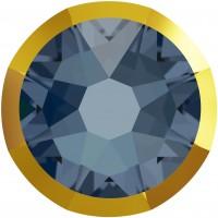Xirius Rose Rimmed Rhinestone ss16 Denim Blue & Dorado Z F