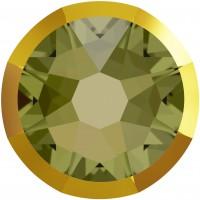Xirius Rose Rimmed Rhinestone ss34 Khaki & Dorado Z F