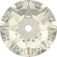 Xirius Lochrose sew-on stone 1 hole 5mm Crystal Silver Shade F