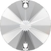 Rivoli sew-on stone 2 hole 12mm Crystal F