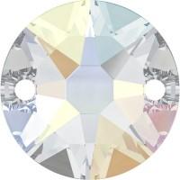 Xirius sew-on stone 2 hole 12mm Crystal AB F