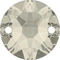 Xirius sew-on stone 2 hole 12mm Crystal Moonlight F