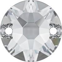 Xirius sew-on stone 2 hole 12mm Crystal F
