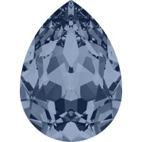 Pear Fancy Stone 8x6mm Denim Blue F