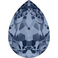 Pear Fancy Stone 18x13mm Denim Blue F