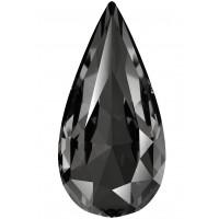 Teardrop Fancy Stone 18x9mm Crystal Silver Night