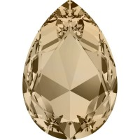 Large Pear 30x20mm Crystal Golden Shadow F