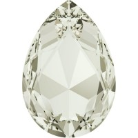 Large Pear 30x20mm Crystal Silver Shade F