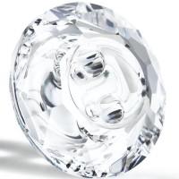 Maxima Button 2 hole 10mm Crystal F