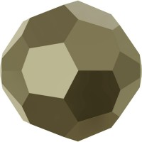 Round Bead (large hole) 2mm Crystal Metallic Light Gold 2x