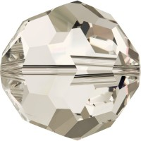 Round Bead (large hole) 2mm Crystal Silver Shade