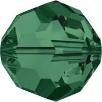 Round Bead (large hole) 3mm Emerald