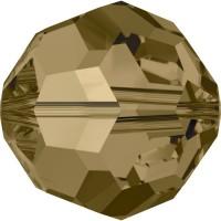 Round Bead (large hole) 8mm Crystal Bronze Shade
