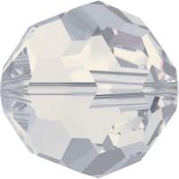Round Bead (large hole) 6mm White Opal