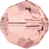 Round Bead (large hole) 6mm Blush Rose