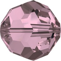 Round Bead (large hole) 4mm Crystal Antique Pink