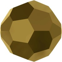 Round Bead (large hole) 8mm Crystal Dorado
