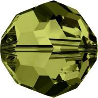 Round Bead (large hole) 6mm Olivine