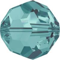 Round Bead (large hole) 6mm Blue Zircon