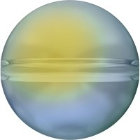 Globe Bead 6mm Crystal Iridescent Green