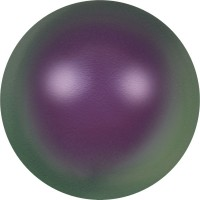 Crystal Round Pearl 12mm Crystal Iridescent Purple Pearl