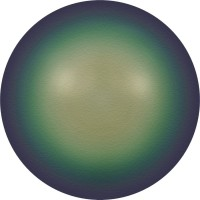 Crystal Round Pearl 6mm Crystal Scarabaeus Green Pearl