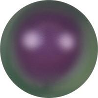Crystal Pearl (large hole) 12mm Crystal Iridescent Purple Pearl