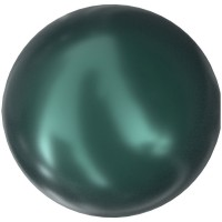 Crystal Pearls 5817 1/2drill Cabochon Pear 6mm Crystal Iridescent Tahitian Look Pearl