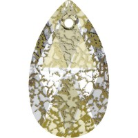 Pear-shaped Pendant 16mm Crystal Gold Patina