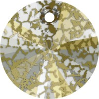 Xilion Pendant 8mm Crystal Gold Patina
