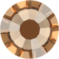 Rose Rhinestone Hotfix ss10 Crystal Golden Shadow HF