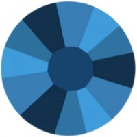 Rose Rhinestone Hotfix ss30 Crystal Metallic Blue HF