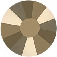 Rose Rhinestone Hotfix ss30 Crystal Metallic Light Gold HF