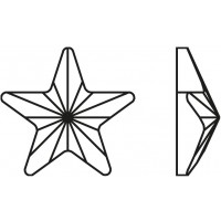 Rivoli Star Hotfix 5mm Crystal AB HF