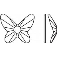 Butterfly Hotfix 8mm Crystal AB HF