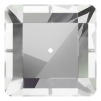 Square sew-on stone 1 hole 10mm Crystal F