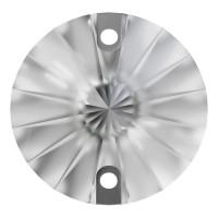 Rivoli sew-on stone flat 2 hole 8mm Crystal Transparent UF