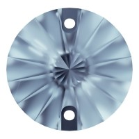Rivoli sew-on stone flat 2 hole 10mm Light Sapphire F