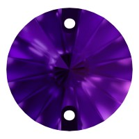 Rivoli sew-on stone flat 2 hole 12mm Purple Velvet F