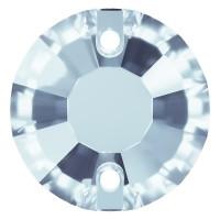 Rose sew-on stone flat 2 hole 10mm Light Sapphire F